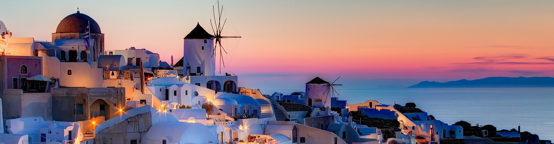 The Greek island of Santorini